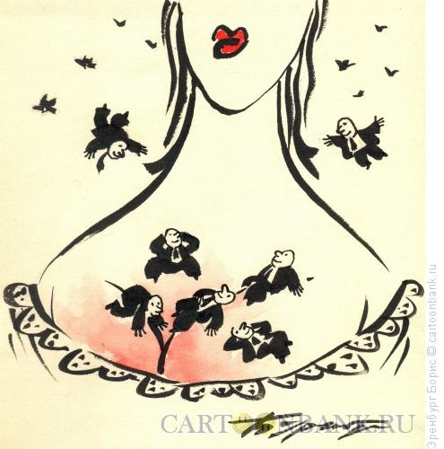 Карикатура: Весна, Эренбург Борис