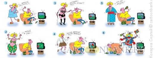 Карикатура: жена фаната, Кокарев Сергей