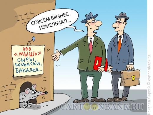Карикатура: малый бизнес, Кокарев Сергей
