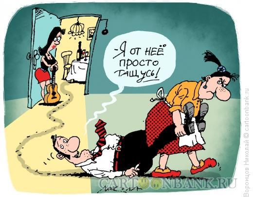 Карикатура: Я от нее тащусь, Воронцов Николай