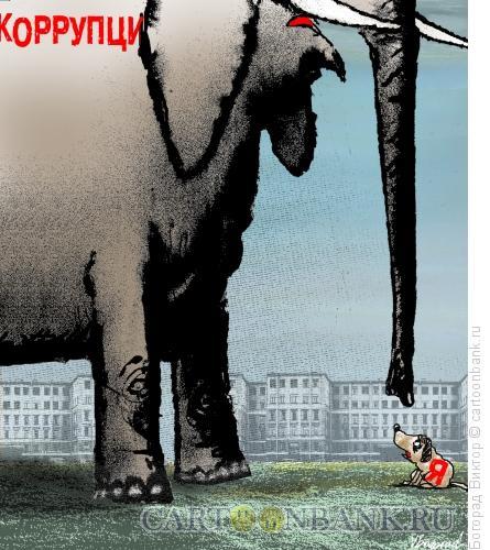 Карикатура: Слон и моська, Богорад Виктор