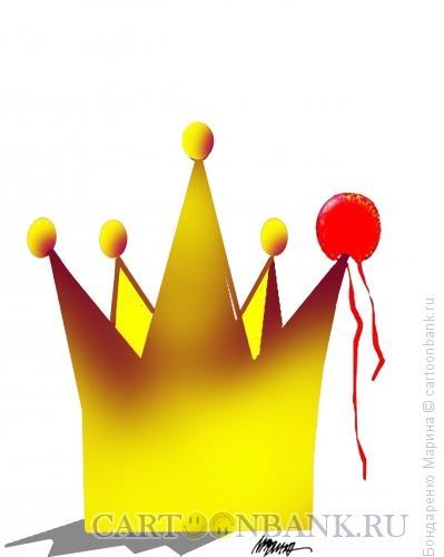 Карикатура: Корона и Клоун, Бондаренко Марина