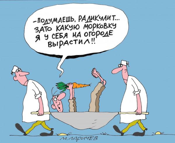 Карикатура: Морковка, Михаил ларичев