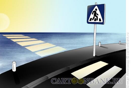 Карикатура: Морской переход, Шмидт Александр