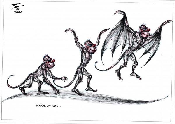 Карикатура: Эволюция ., Юрий Косарев