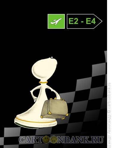 Карикатура: Е2  Е4, Шмидт Александр