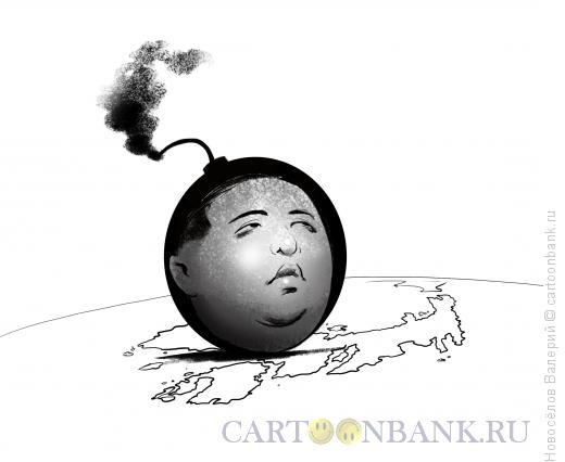 Карикатура: Бомба, Новосёлов Валерий
