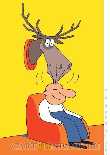 Карикатура: Старый охотник, Хомяков Валерий