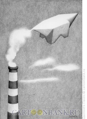 Карикатура: Вредные выбросы, Далпонте Паоло