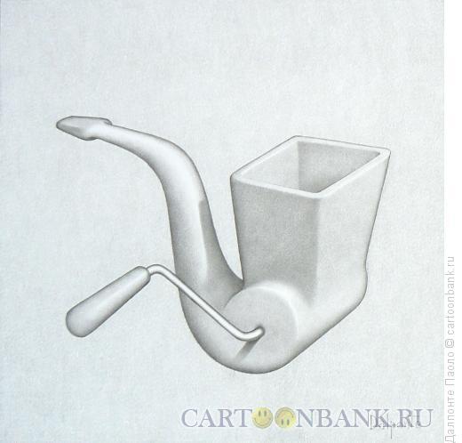 Карикатура: трубка мясорубка, Далпонте Паоло