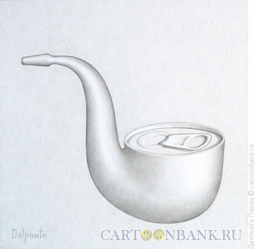 Карикатура: трубка-банка, Далпонте Паоло