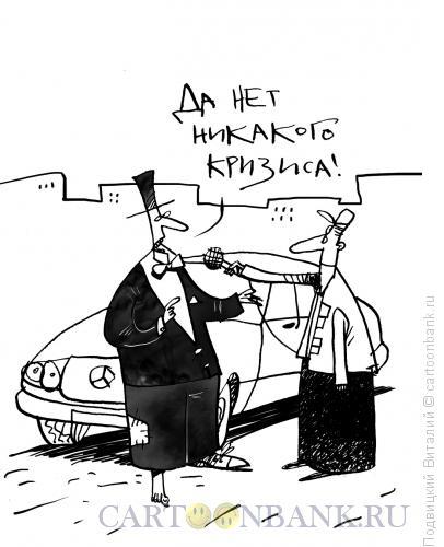 Карикатура: Кризиса нет!, Подвицкий Виталий