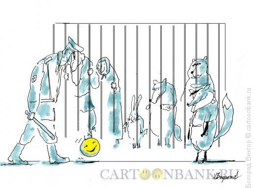 Карикатура: Колобок-стукач, Богорад Виктор