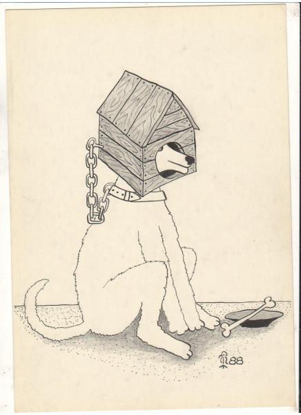 Карикатура: Собака и будка, Минаев Вяч