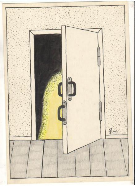 Карикатура: Дверь, Минаев Вяч