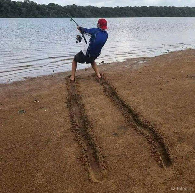 Мем: С днем рыбака!