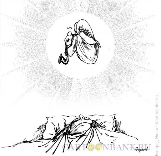 Карикатура: Утренний блюз, Богорад Виктор