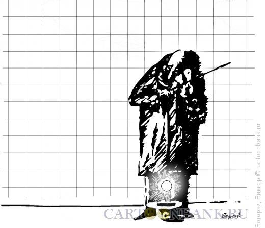 Карикатура: Музыкальный восход в переходе, Богорад Виктор