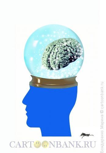 Карикатура: Сотрясение,Мозг, Голова, Шар, Бондаренко Марина