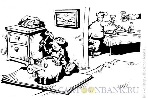 Карикатура: Оставшийся без внимания, Кийко Игорь