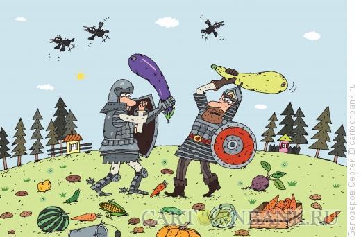 Карикатура: Битва за урожай, Белозёров Сергей