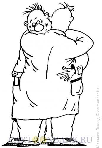 Карикатура: Радость-то какая!, Мельник Леонид