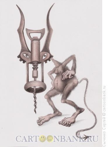Карикатура: Чёртик, Сыченко Сергей