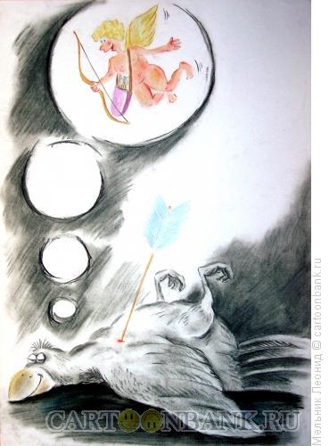 Карикатура: Вот ты какая, любовь!..., Мельник Леонид