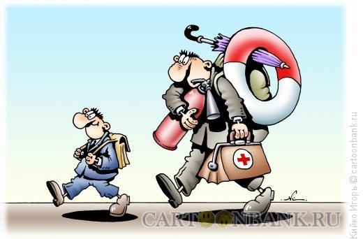 Карикатура: В школу, Кийко Игорь