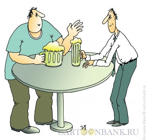 Карикатура: Пивная, Анчуков Иван