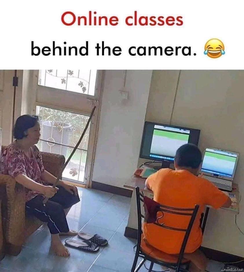 Мем: Обучение по удаленке.