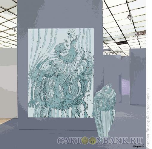 Карикатура: В выставочном зале, Богорад Виктор