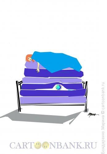 Карикатура: Горошина, Коронавирус, Принцесса, Бондаренко Марина