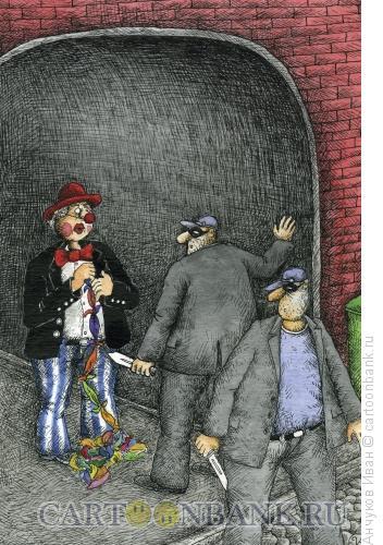 Карикатура: ночное представление, Анчуков Иван