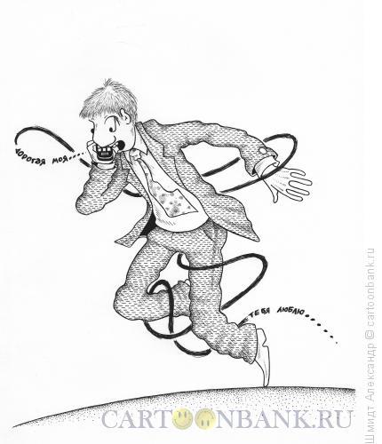 Карикатура: Споткнувшийся на словах (ч/б), Шмидт Александр