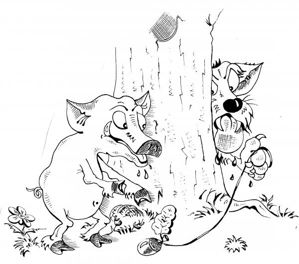 Карикатура: ГОЛОД НЕ ТЕТКА., Константин Мухоморов
