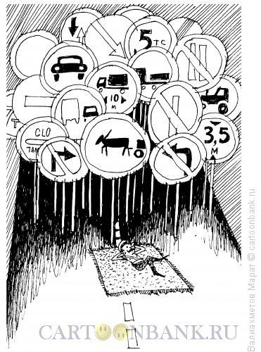 Карикатура: Лежачий полицейский, Валиахметов Марат