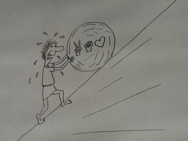 Карикатура: Напрасный политический труд, Петров Александр