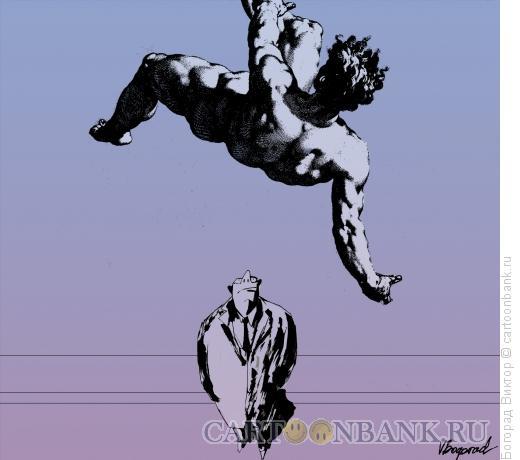 Карикатура: Падение с небес, Богорад Виктор