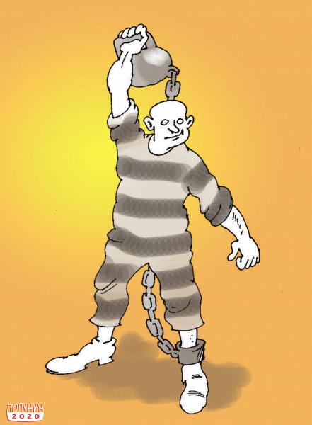 Карикатура: СОБЛЮДАЯ РЕЖИМ, АЛЕКСАНДР ПОЛУНИН