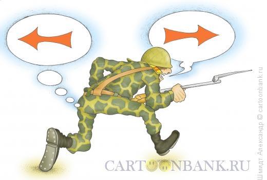 Карикатура: Бесстрашное наступление, Шмидт Александр