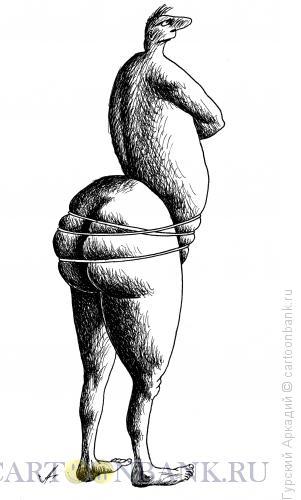 Карикатура: обнажённый, Гурский Аркадий