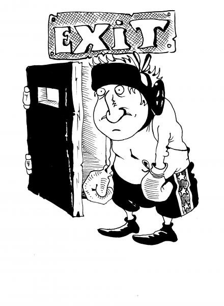 Карикатура: ГЕРОЙ ДНЯ., Константин Мухоморов
