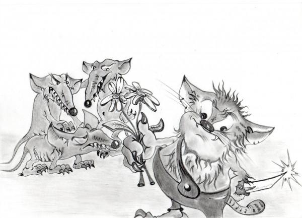 Карикатура: РЕБЯТА ДАВАЙТЕ ЖИТЬ ДРУЖНО!, Константин Мухоморов