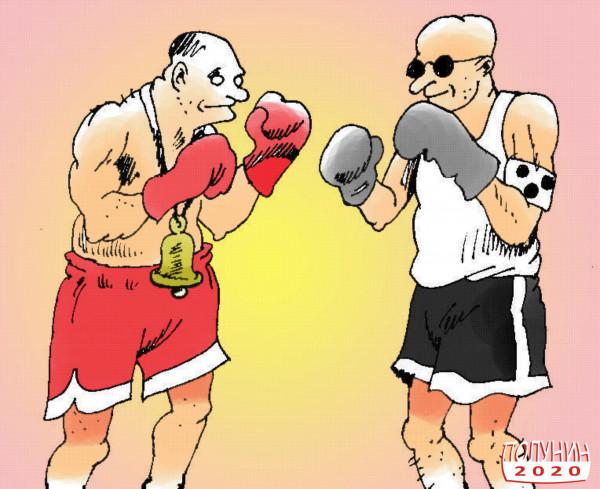 Карикатура: СЛЕПОЙ НО НЕ ГЛУХОЙ, АЛЕКСАНДР ПОЛУНИН