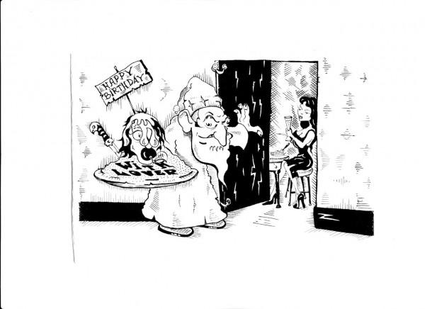 Карикатура: СУПРУЖЕСКИЙ ДОЛГ., Константин Мухоморов
