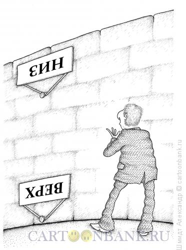 Карикатура: Перевернутая стена, Шмидт Александр