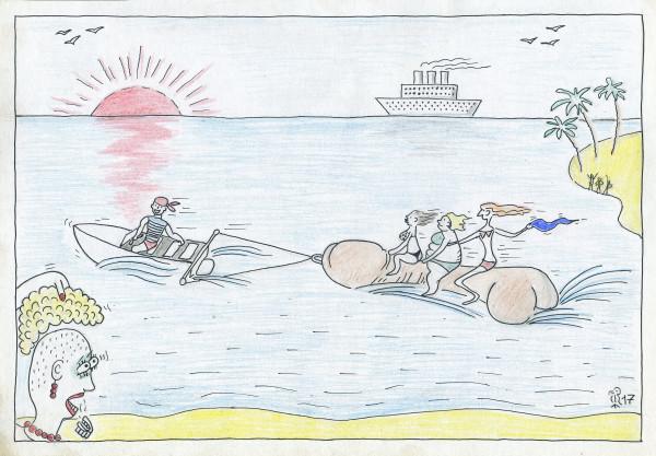 Карикатура: Заре навстречу, Минаев Вяч