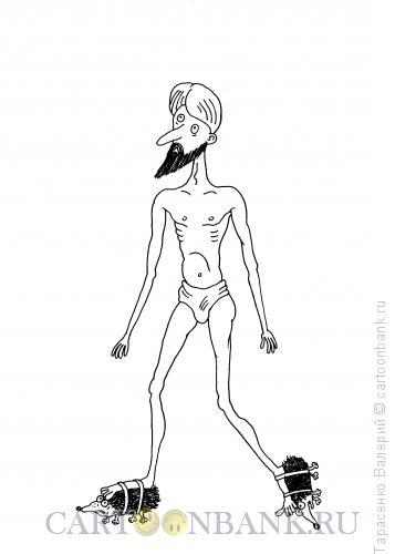 Карикатура: Удобная обувь, Тарасенко Валерий