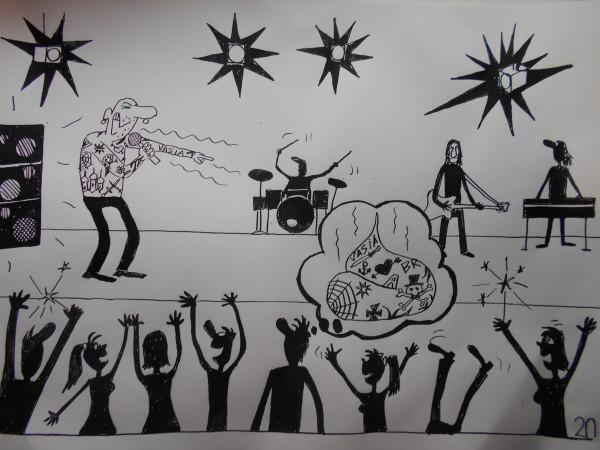 Карикатура: рок, Петров Александр